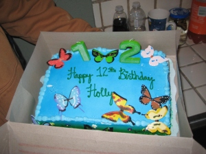 Holly's birthday cake. Yum!